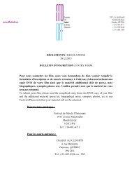 RÈGLEMENTS / REGULATIONS 2012-2013 BULLETIN ... - Festivals