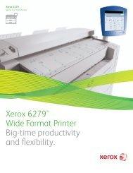 Brochure - Xerox 6279™ Wide Format Printer (PDF, 1 MB)