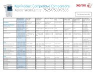 Competitive Comparisons Xerox WorkCentre 7525/7530/7535