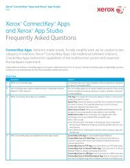 ConnectKey Apps FAQ - Xerox