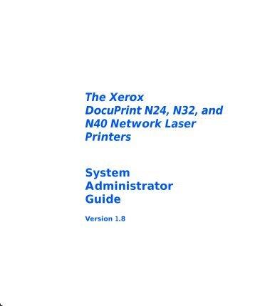 System Admin. Guide - Xerox