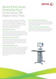 Xerox EX Print Server Powered by Fiery® for the Xerox 700 Digital ...