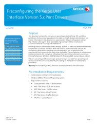 Preconfiguring the Xerox User Interface Version 5.x Print Drivers