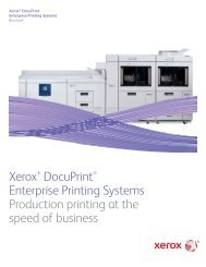 Brochure - Xerox DocuPrint Enterprise Printing Systems (PDF, 1.1 MB)
