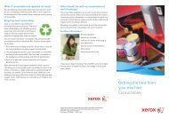 Getting the best from your machine Consumables - Xerox