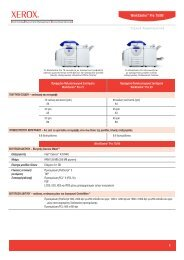 WorkCentre Pro 75 Detailed Specifications (PDF) - Xerox Office