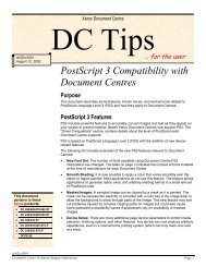 PostScript 3 Compatibility with Document Centres (PDF, 140 ... - Xerox