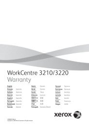 Product Warranty - Xerox