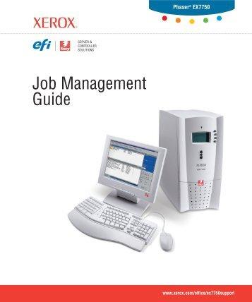 Job Management Guide - Xerox