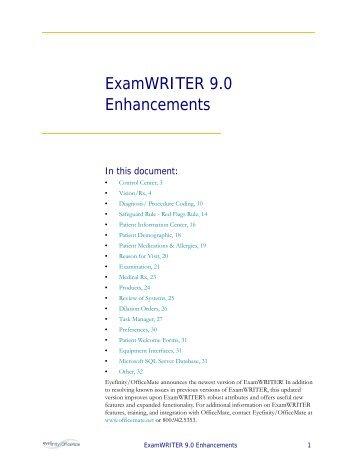 ExamWRITER 9.0 Enhancements