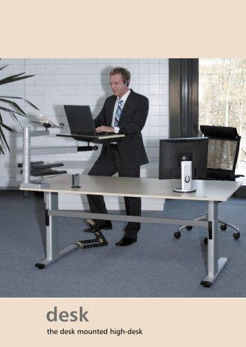the desk mounted high-desk - Officeplus