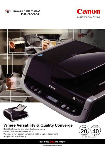 Canon DR2020U Scanner Brochure - Office Printers