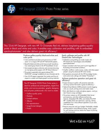 HP Design Jet Z3200 Brochure - Office Printers
