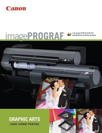 Canon imagePROGRAF iPF8300/6350/6300 Brochure - Office Printers