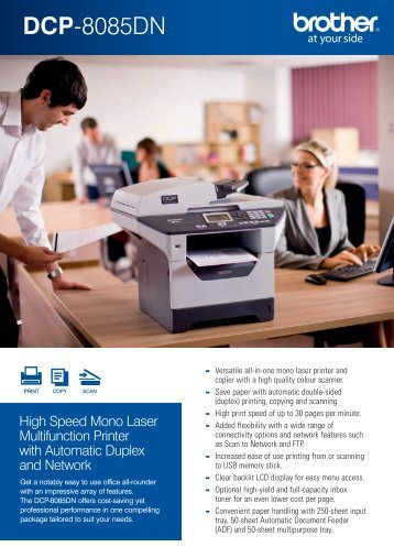 Brother DCP-8085 Fax Brochure - Office Printers