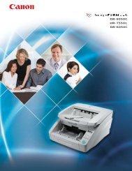 Canon DR9050C 7550C 6050C Scanner Brochure