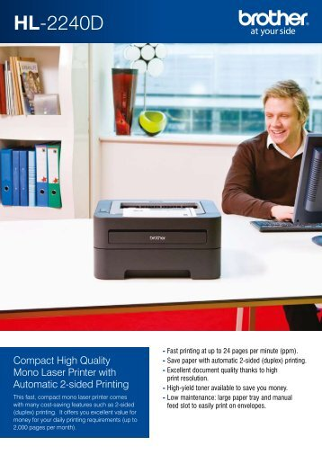 Brother HL2240D Printer Brochure - Office Printers