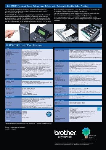 HL4150CDN Network Ready Colour Laser Printer ... - Office Printers