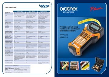 Brother P-Touch 7100VP Brochure