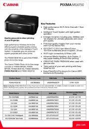 Canon Pixma MG6150 Printer Brochure - Office Printers