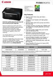 Canon Pixma MG8150 Brochure - Office Printers