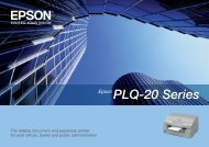 PLQ-20 Series Epson - Office Printers