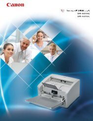 Canon DR6010C Scanner Brochure - Office Printers