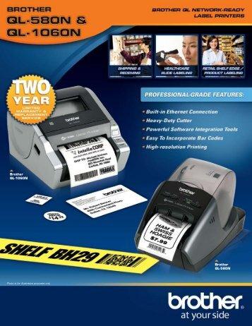 Brother QL-580N Label Brochure - Office Printers