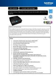 MFC-J625DW LC1220/ 1240 Cartridges Wireless ... - Office Printers