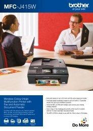 Brother MFC-J415W Printer Brochure - Office Printers