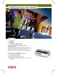 ML3390/ML3391 DOT MATRIX PRINTER - Office Printers