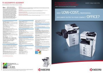 FS-6025MFP/FS-6030MFP FS-C8020MFP/FS ... - Office Printers