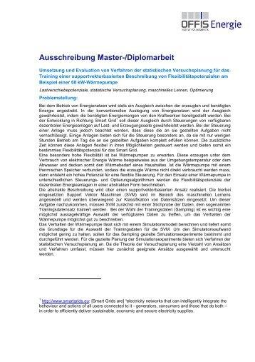 Umsetzung und Evaluation von Verfahren der statistischen ... - Offis