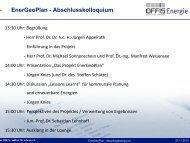 Jürgen Knies: EnerGeoPlan Abschlusskolloquium - OFFIS
