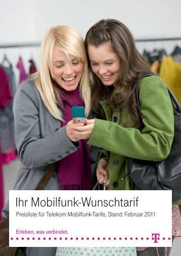 Ihr Mobilfunk Wunschtarif