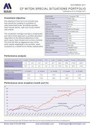 CF MITON SPECIAL SITUATIONS PORTFOLIO - Offshore-Rebates