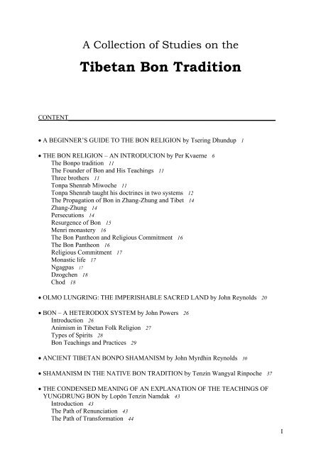 Tibetan Bon Tradition Order of Nazorean Essenes