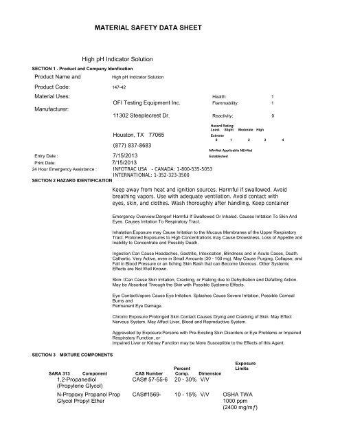 147-42 - OFI Testing Equipment, Inc