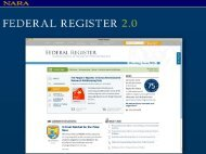 News Sections - The Office of the Federal Register