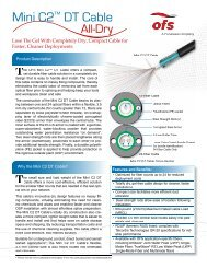 Mini C2™ DT Cable Brochure (451.66 KB) - OFS