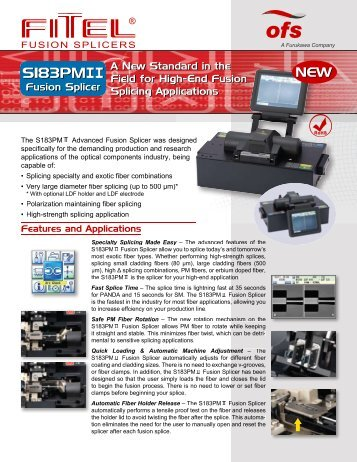 S183PMII Fusion Splicer Data Sheet - OFS