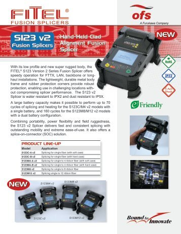 S123 Fusion Splicer Data Sheet - OFS