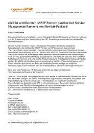 Authorized Service Management Partner - eSell GmbH