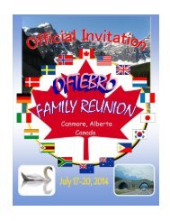Oftebro Family Reunion - Canada 2014