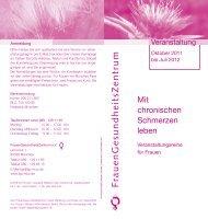 zum Flyer - FrauenGesundheitsZentrum München