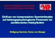 Einfluss von kompressiven Sportstrümpfen auf ... - OFZ Uni Erlangen