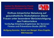 Einfluss körperlicher Belastung auf ... - OFZ Uni Erlangen