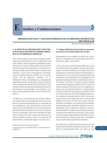 Armonización fiscal y capacidad normativa de los TT ... - Euskadi.net