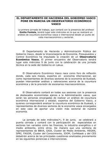 el departamento de hacienda del gobierno vasco pone en marcha ...