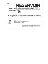 Management of Virtual Execution Environments - Open Grid Forum